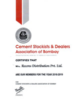 Certificate of Cement Stockist & Dealers Association of Bombay